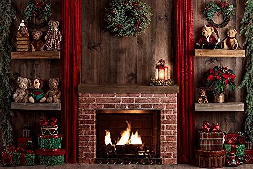 Sfondo di fotografia di Natale neonato Vacanze di Natale torta di compleanno sfondo fotografico foto di famiglia propsA17 9x6ft/2.7x1.8m