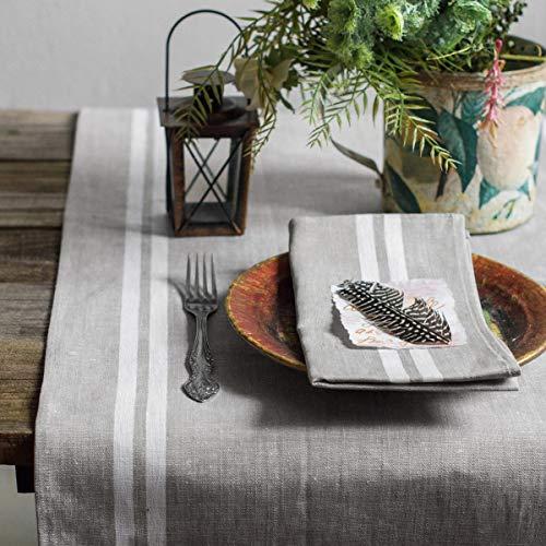 Leinen Tischläufer - Läufer - Tischband - Tischtuch - 50 x 200 cm - Farbe Grau/Varvara Home 1711