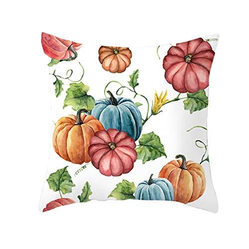 Lilicat Dekorativ Kissenbezug Halloween Theme 45 x 45cm Sofa Büro Dekor Kissenhülle aus Baumwoll und Leinen Kissenbezüge für Sofa Auto Terrasse Zierkissenbezüge Serie