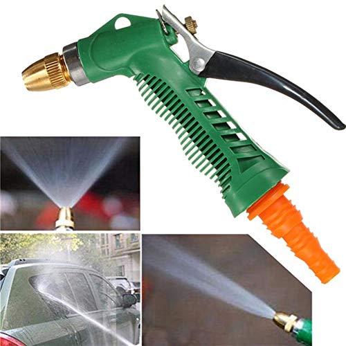 Sistema de riego Agua a presión rociador de jardín de Metal de la Boquilla de la Manguera para Patio, Invernadero, césped (Color : Green, Size : Ones)