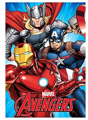 Theonoi Kuscheldecke Mikrofaserdecke Fleecedecke Kinder Decke Wohndecke Fleece kuschelig weich –Geschenk Avengers