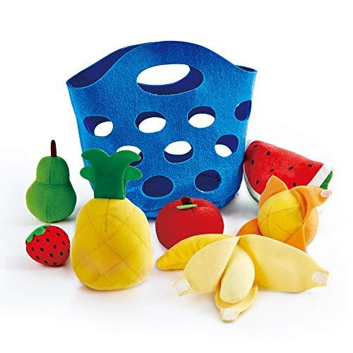 Hape E3169 Obstkörbchen Zubehör für Kinderküchen und Kaufmannsladen, ab 18 Monaten