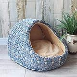 eaz Casa de perro para interior pequeña para mascotas, para perros, caseta para cachorros, gatos, cama para casa, sofá para interiores y perros pequeños, cojín extraíble para mascotas