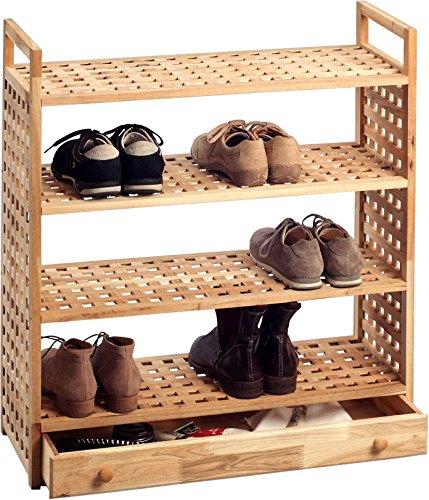 HomeTrends4You Schuhregal, Holz, Natur