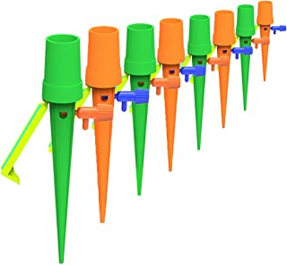 Plant Self Watering Spikes Devices, 18 Pack Universal Plant Watering Drip Irrigation Equipment with Adjustable Slow Releas...