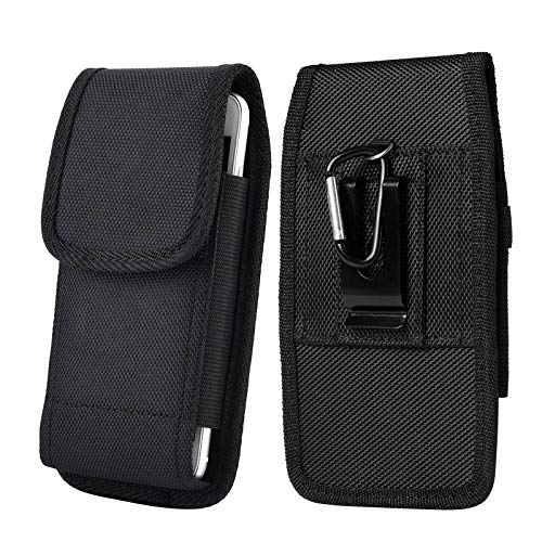 Universal Case for 5.8~6.7 inch Smartphone Pouch Case, Clip-on Holster Belt Clip Carrying Case for iPhone X iPhone Xs iPhone XR iPhone 11 iPhone 11 Pro/iPhone 8 7 6 Plus and More