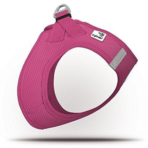 CURLI Brustgeschirr Plush Vest AIR-MESH SUMMER magenta für Hunde M (41 - 45cm)