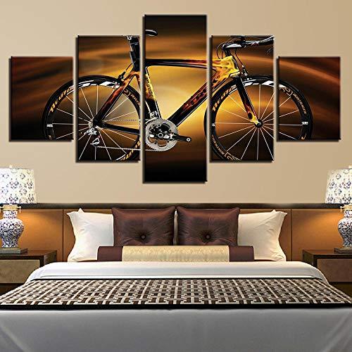 RDCHY Quadro su Tela Ciclismo Poster Stampa su Tela, Grafica Decorazione Moderna per Camera da Letto e Soggiorno, 5 Pezzi/Senza Telaio