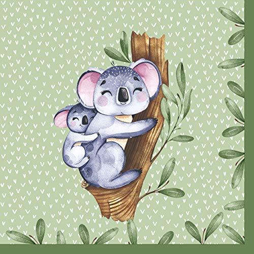 20 servilletas para el almuerzo de Koalas en el bosque tropical, 33 cm