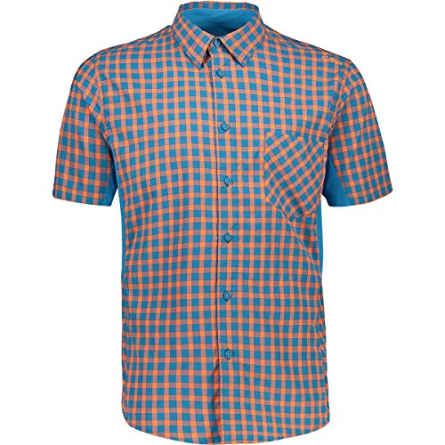 CMP Herren Slim Fit schnell trocknendes Coolmax-Hemd, Flash Orange-Rif, 54, 30T9907