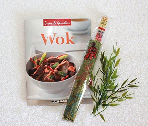 Asia Art Factory AAF Nommel ® Wok Kochbuch + 1 Paar Essstäbchen - Kochen mit dem Wok – Essen und Geniessen Nr. 001
