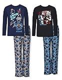 Sleep On It 4PC Boys Pajamas Set with Pajama Pants, Long & Short Sleeve Tops (2 Full Sets)