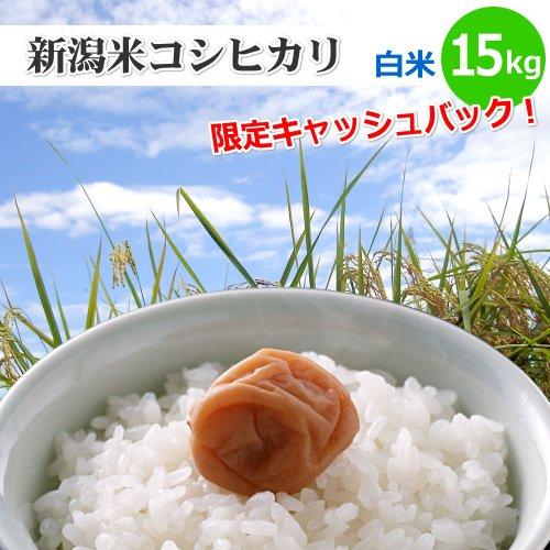 【和歌山県限定】新潟米コシヒカリ【白米】15kg[新潟産こしひかり]和歌山県の方は5%キャッシュバックキャンペーン!