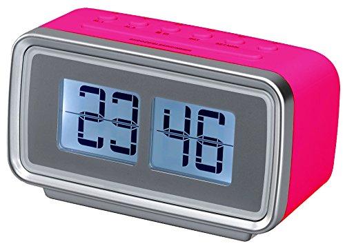 Silva Schneider UR 2400 Retro FM-wekker, alarm, snooze, slaapfunctie, roze