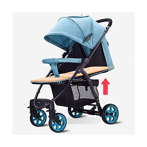 JXCC Baby Stroller High Landscape Children'S Shock Absorber Trolley Can Sit Reclining Baby Car Folding 0-3 Years Old -Safe And Stylish Grey JXCC IDEAL CHOICE FOR DAILY USING OR EXTEND TRAVEL - For families with a passion for local or overseas travel and exploring, it is the perfect priority as it stows away easily in any plane or train overhead bin, or just stowing away in the car BESREY CAPSULE BABY STROLLER WHICH IS SMALL BUT STRONG - Built using high quality, durable materials, the capsule stroller can hold a child from 6 months up to 36 months. BESREY SMALLEST FOLDING STROLLER - With its innovative two-step folding design, the stroller folding down to 84 x 40 x 44CM and a weight of 9KG. 6