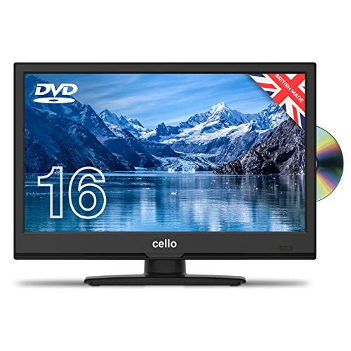 "Cello C1620FS/ZSF0261 16"" inch Full HD LED TV/DVD Freeview HD and Satellite Tuner 2020 Model Made In The UK (New 2020 Model) , Black"