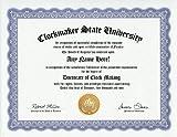 Clockmaker Clock Making Clock Maker Degree: Custom Gag Diploma Doctorate Certificate (Funny Customized Joke Gift - Novelty Item)