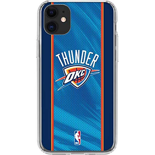 Skinit Clear Phone Case Compatible with iPhone 11 - Officially Licensed NBA Oklahoma City Thunder Blue Jersey Design