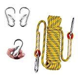 Shengruili Fischerei Bergung Seil 10m mit 2 Karabiner, Allzweckseil,Festmacherleine,Heavy Duty Seil,Leine,Outdoor Seil