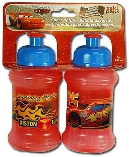 tomar hasta un 70% de descuento Disney Cars Cars Cars 9oz Pull Up Top Sports Bottle 2-Piece Set by Zak   comprar mejor