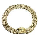 Collares Básicos Cuello Retro Grande, Pequeño Y Mediano De Diamantes, Con Cadena De Perro Y Collar De Metal Dorado, 30 Pulgadas