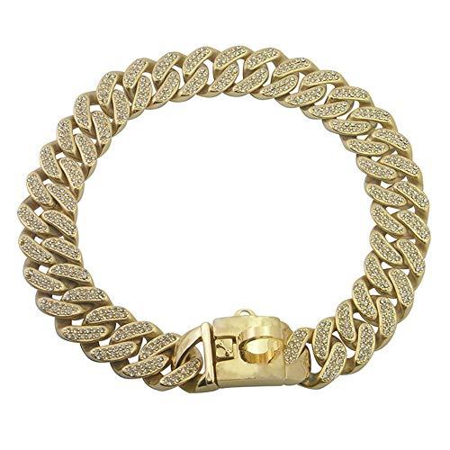 Collares Básicos Diamante, Oro, Mediano Y Pequeño Collar De Metal, Cadena De Perro, Collar Retro De 22 Pulgadas, 22 Pulgadas