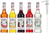 [page_title]-Monin Cocktail-Set 5+5, Sauerkirsche, Mojito Mint, Wassermelone, Mango, Pink Grapefruit - Sirup für Cocktails mit Pumpe, 1er Pack (1 x 3.5 l)
