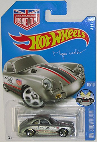 PORSCHE 356A OUTLAW Hot Wheels 2016 HW SHOWROOM Silver Porsche 356a 1:64 Scale Collectible Die Cast Metal Toy Car Model #10/10 on International Long Card by Hot Wheels