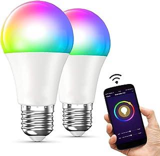 E T EASYTAO 2 Bombillas Inteligentes Foco Led Inteligente E27 Bombilla Wifi 10W RGBW 16 Millones de Colores Regulable Cont...