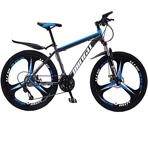 LAOLI Adult Mountain Bike, 26 inch Wheels, Mountain Trail Bike High Carbon Steel Folding Outroad Bicycles, 21-Speed Bicycle Full Suspension MTB Gears Dual Disc Brakes Mountain Bicycle