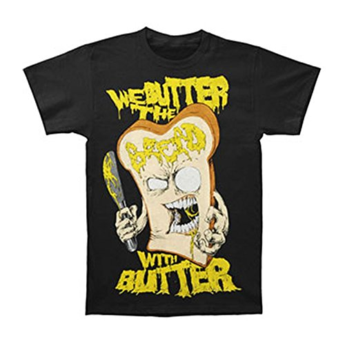 We Butter The Bread with Butter Men's Slice T Shirt Black
