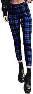 Ptyhk RG Womens Checked Leggings Sweatpants Yoga Exercise Long-Pants Gym Pants
