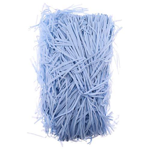 htrdjhrjy Nuevo Lanzada 100gPaquete Triturado Papel de Seda Baker Relleno Paquete Envolvente Caja de Regalo Bolsas Cesto para Decoración Hogar - 12#Azul Celeste