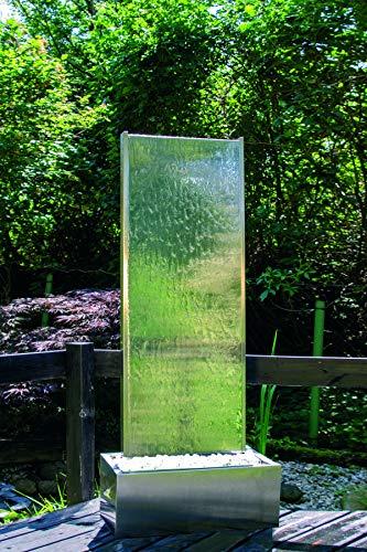 Köhko Wasserwand Höhe ca. 180 cm 26004 Terassenbrunnen mit Edelstahlbecken