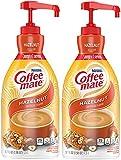 Nestle Coffee Mate Coffee Creamer, Hazelnut, 1.5L liquid pump bottle, Pack of 2, 50.7 Fl Oz (Pack of 2)