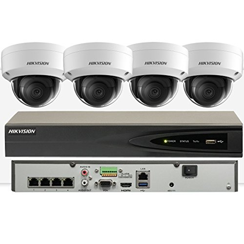 Hikvision 5Mp Ip 2,3 Or 4 X Cameras Kit 4K Nvr Network Recorder Surveillance With 5Mp Ip 2,3 Or 4 X Ds-2Cd2155Fwd-I (No Hdd, 4 X Ip Kit)