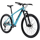 SAVADECK Carbon Fiber Mountain Bike, DECK6.1 MTB 27.5' Complete Hard Tail Mountain Bicycle 12 Speeds with DEORE M6100 Group Set (Blue, 27.5x17'')