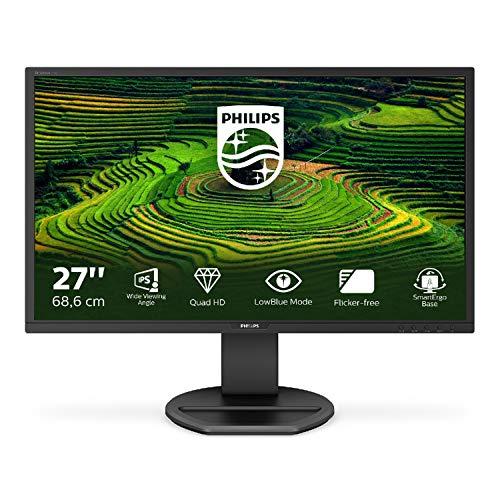 Philips 272B8QJEB Monitor 27', 2560 x 1440, IPS, 5 ms, Hub USB, Audio Integrato, Ergonomia Totale,...