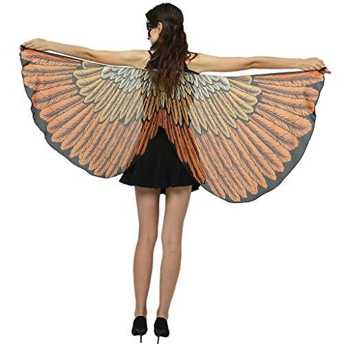 Halloween Mujeres Chicas Cosplay Capa Disfraces Mantón de Mariposa Moda Chal de Alas de Mariposa Duendecillo Disfraz Playa Fiesta para Mujer niños riou