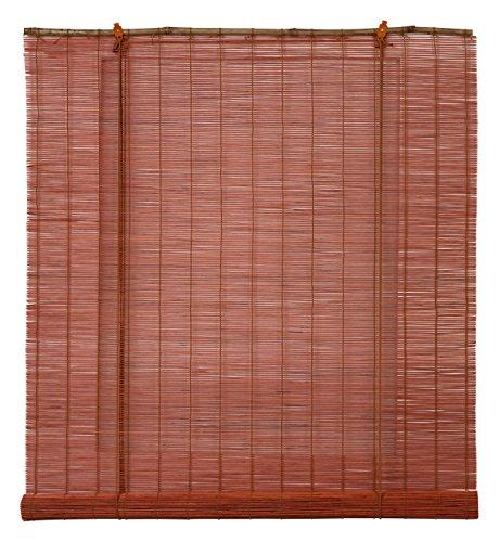 OCRES - Estor Enrollable Bambú Natural Terracota 75X175