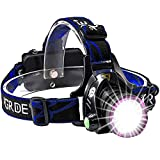 Headlamp, GRDE Zoomable Brightest High LED Work Headlight 3 Modes with...