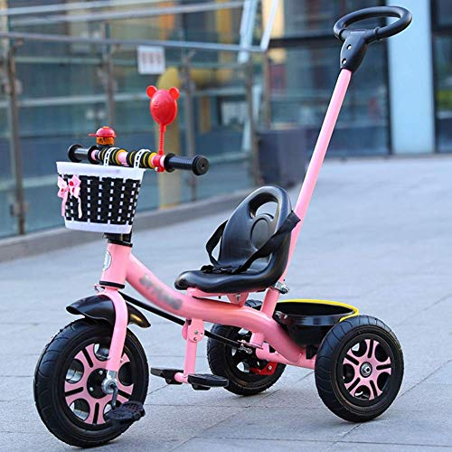 Sale!! Kids Trikes with Parent Handle, Kids Trikes Girls Push Along, Pedal Kids Tricycle 3 Wheels St...