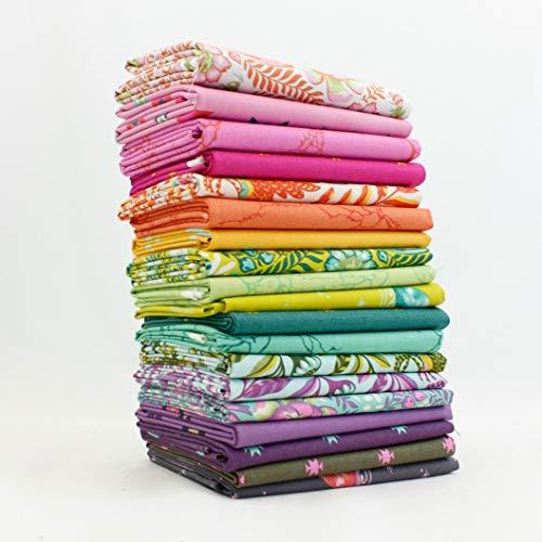 Spirit Spirit Animal Fat Aighth Bundle (23 Stück) - Tula Pink 22,86 cm x 53,34 cm Stoffschnitte DIY Quilt-Stoff