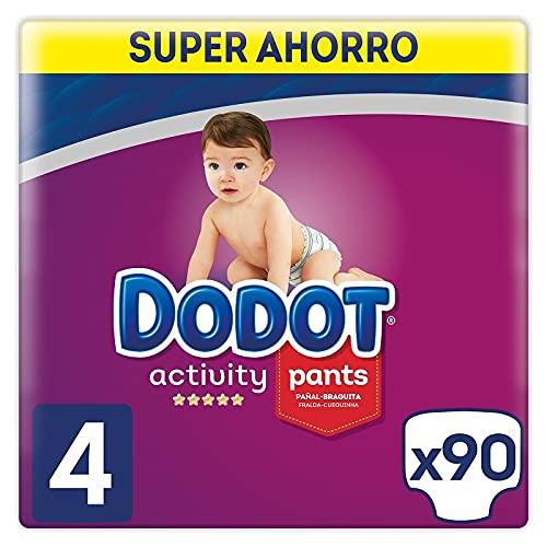Dodot Activity Pants Pañal-Braguita Talla 4, 90 uds, 9-15 kg