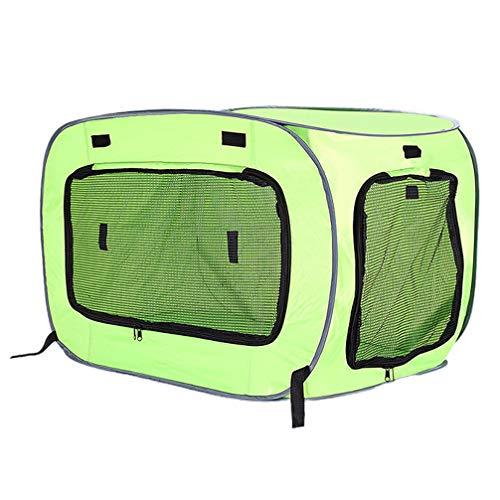 Balacoo Stof Hond Krat Drager Draagbare Opvouwbare Kat Kennel Kooi Puppy Nest Tent Voor Reizen Transporttas Voertuig (Lichtgroen Maat S)