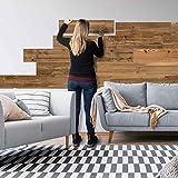 SUN WOOD Stick-it Rivestimento murale legno adesivo in design legno antico //TIROL 01 I 0,48m² Rivestimento Parete Panelli murali adesivo pannello decorativo
