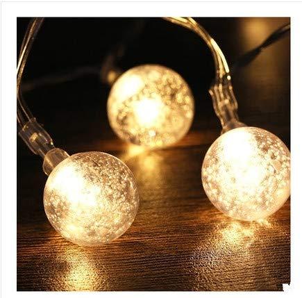 LED-Lichterkette Ball Blase Lichterketten Weihnachtsbeleuchtung Weihnachtsbaumbeleuchtung Weihnachtsdekoration, warmweiß, 10 Meter 80 Lichter