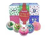 Bomb Cosmetics Twelve days of Xmas Bath Blaster calendario dell' avvento con confezione re...