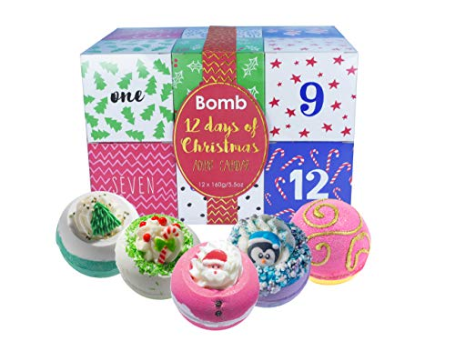 Bomb Cosmetics 12 Days of Christmas Handmade Bath Bomb Advent Calendar