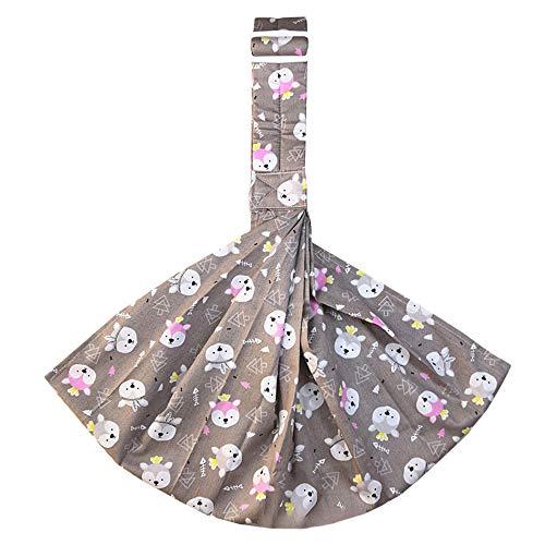 SOMTHRON - Pañuelo portabebés, sin manos, suave, con patrón dentro de 15 kg Grau-2 Talla:Tamaño real